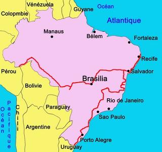 Carte Bresil Cote Atlantique.Cote Des Cocotiers